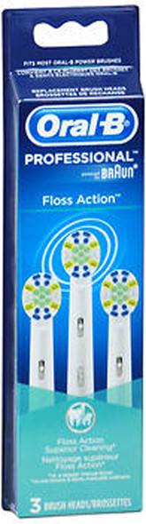 Oral-B Floss Action Brush Heads - 3 pack