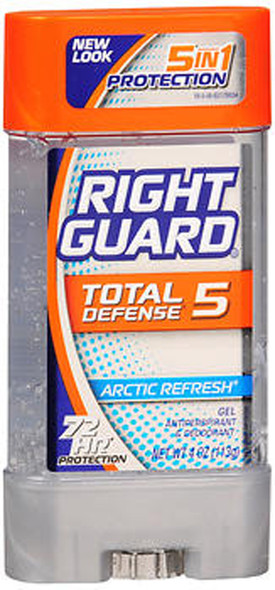 Right Guard Total Defense 5 Gel Antiperspirant & Deodorant Arctic Refresh - 4 oz
