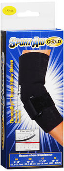 Sport Aid Gold ThermaDry Tennis Elbow Sleeve LG - 1 ea.
