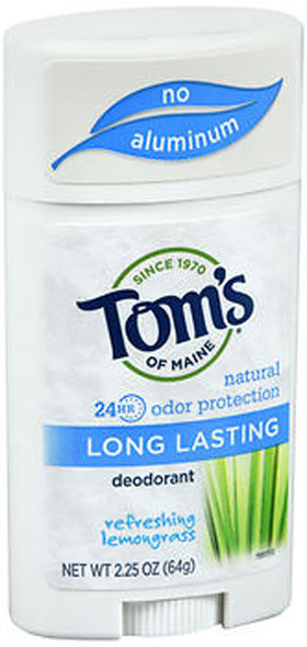 Tom's of Maine Natural Long-Lasting Deodorant Stick Lemongrass - 2.25 oz