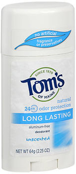 Tom's of Maine Long Lasting Aluminum-Free Deodorant Stick Unscented - 2.25 oz