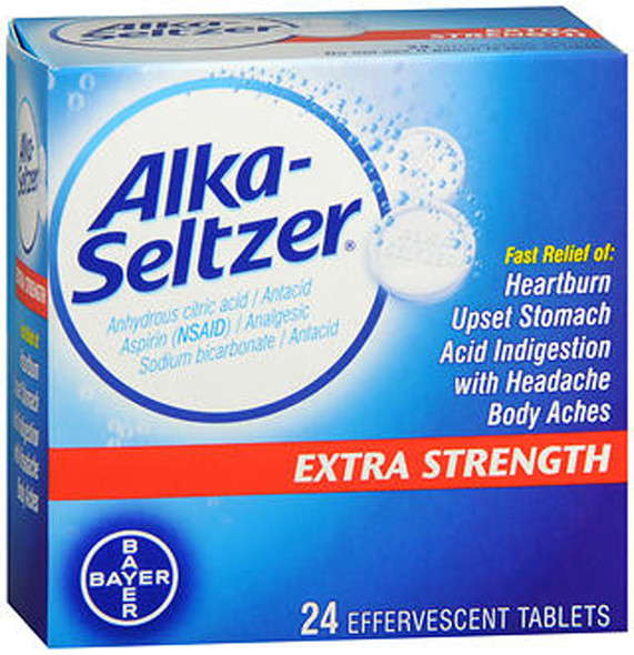 Alka-Seltzer Effervescent Extra Strength - 24 Tablets