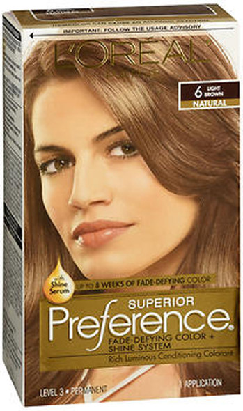 L'Oreal Superior Preference - 6 Light Brown (Natural)
