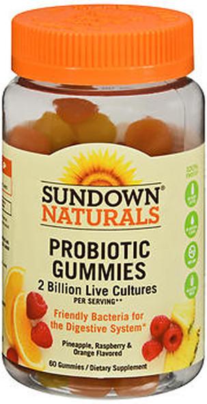Sundown Naturals Probiotic Gummies Pineapple, Raspberry & Orange Flavored - 60 ct
