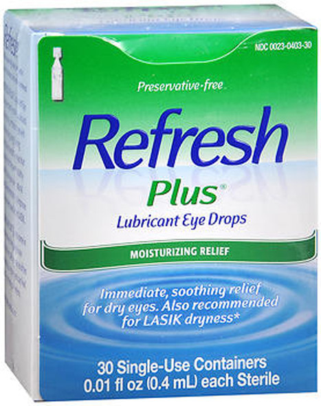 Refresh Plus Lubricant Eye Drops Single-Use Containers - 30 ct