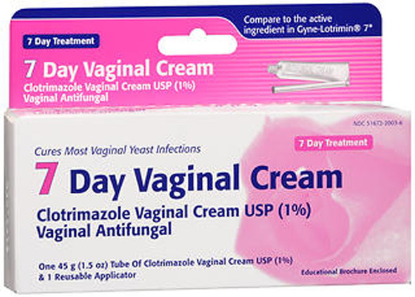 Taro 7 Day Clotrimazole Vaginal Cream Antifungal Treatment - 1.5 oz