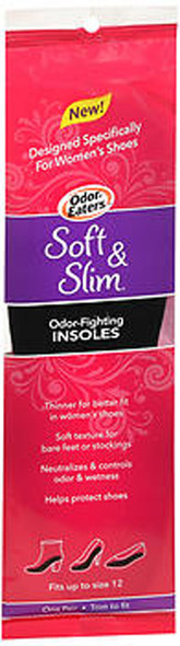 Odor-Eaters Soft & Slim Odor-Fighting Insoles Fits Up to Size 12 - 1 PR