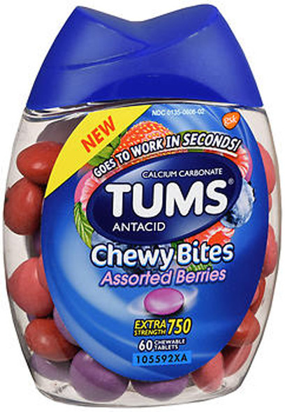 TUMS Extra Strength 750 Antacid Chewy Bites Assorted Berries - 60 each