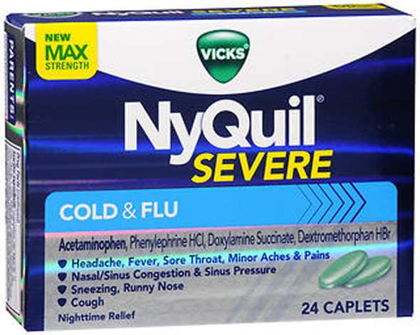 Vicks NyQuil Severe Cold & Flu Caplets - 24 ct