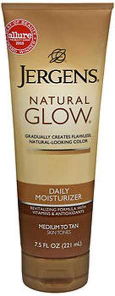 Jergens Natural Glow Daily Moisturizer Lotion Medium to Tan Skin Tones - 7.5 oz