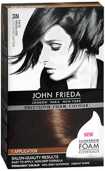 John Frieda Precision Foam Colour Permanent Hair Colour Kit 3N Brilliant Brunette (Deep Brown Black)
