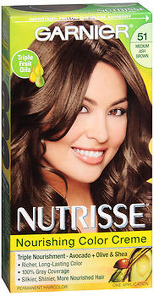 Garnier Nutrisse Haircolor - 51 Cool Tea (Medium Ash Brown)