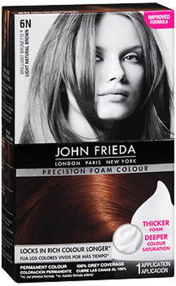 John Frieda Precision Foam Colour Brilliant Brunette (Light Natural Brown) 6N