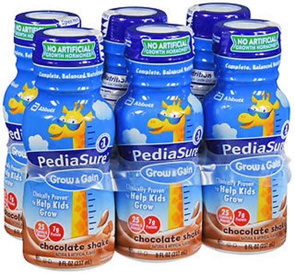 PediaSure Grow & Gain Shakes Chocolate 8 oz - 6 Pack