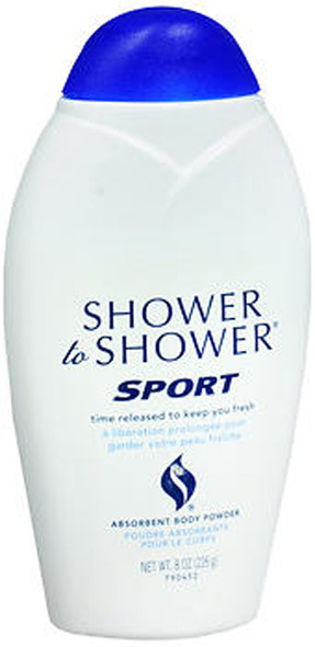 Shower to Shower Absorbent Body Powder Sport - 8 oz
