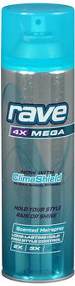 Rave 4X Mega Hairspray Scented - 11 oz