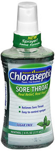 Chloraseptic Sore Throat Spray Sugar Free Menthol - 6 oz