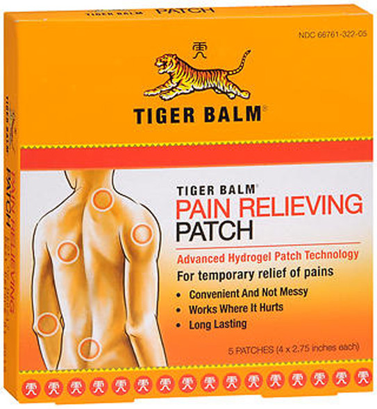 Tiger Balm Pain Relieving Patches - 5 ct