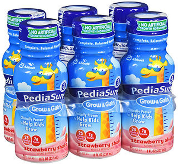 PediaSure Liquid Strawberry, 6 - 8 oz