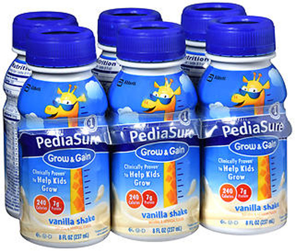 PediaSure Liquid Vanilla, 6 - 8 oz