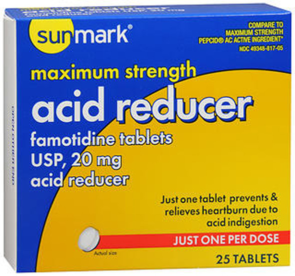 Sunmark Acid Reducer 20 mg Tablets - 25 ct