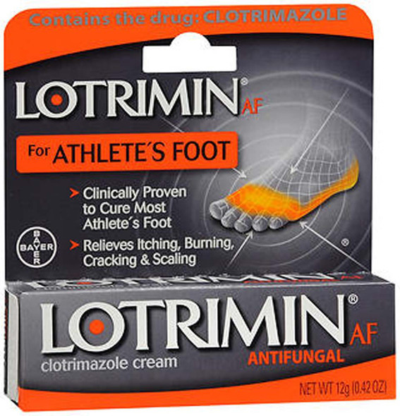 Lotrimin AF Antifungal Cream, Athletes Foot - .42 oz