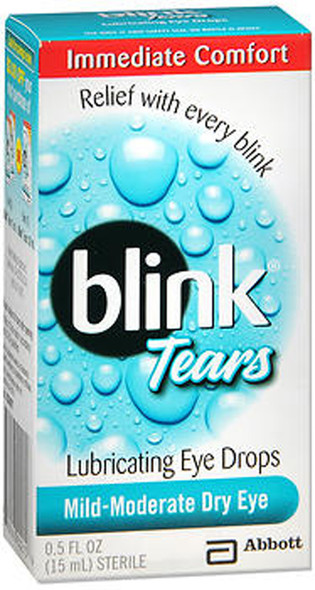 Blink Tears Lubricating Eye Drops Mild-Moderate Dry Eye - 0.5 oz