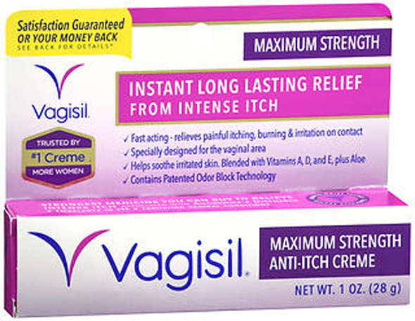 Vagisil Medicated Anti-Itch Creme Maximum Strength - 1oz