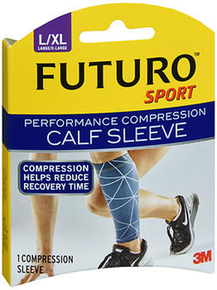 Futuro Sport Performance Compression Calf Sleeve Large/X-Large - 1 Sleeve