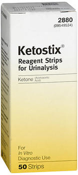 Ketostix Reagent Strips for Urinalysis, Ketone Test  - 50 ct