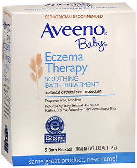 Aveeno Baby Fragrance Free Soothing Bath Treatment Packets - 5 ct