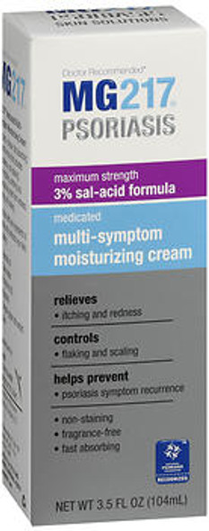 MG217 Psoriasis Medicated Multi-Symptom Moisturizing Cream - 3.5 oz