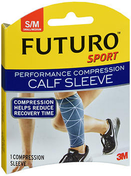 Futuro Sport Performance Compression Calf Sleeve Small/Medium - 1 Sleeve