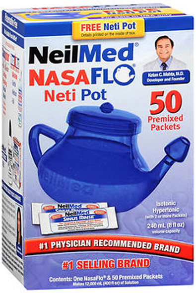 NeilMed NasaFlo Nasal Rinse Device with Packets - 1 each