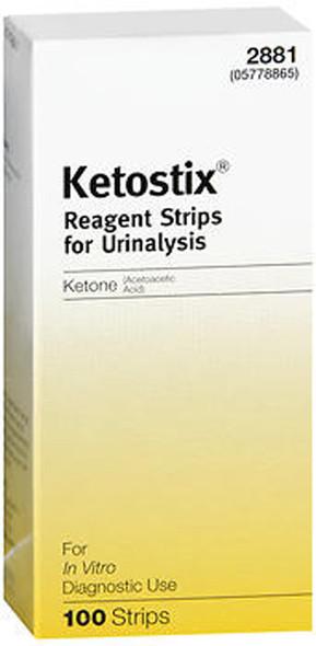 Ketostix Reagent Strips for Urinalysis, Ketone Test - 100 ct