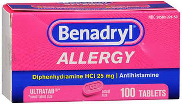 Benadryl Allergy Ultratab Tablets - 100 ct