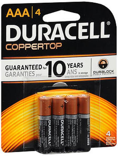 Duracell Coppertop AAA Alkaline Batteries 1.5 Volt - 4ct