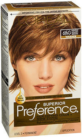 L'Oreal Superior Preference - 6-1/2G Lightest Golden Brown (Warmer)