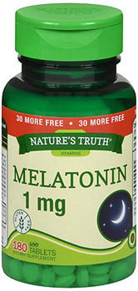 Nature's Truth Melatonin 1 mg Dietary Supplement - 180 Tablets