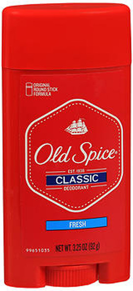 Old Spice Classic Deodorant Stick Fresh - 3.25 oz