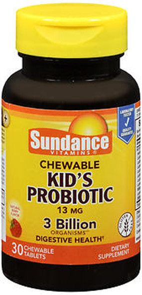 Sundance Kid's Probiotic 13 mg Chewable Natural Berry Flavor - 30 Tablets