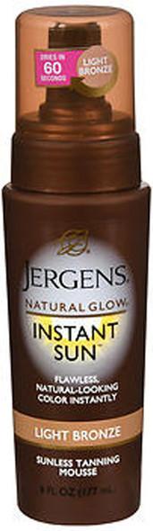 Jergens Natural Glow Instant Sun Sunless Tanning Mousse Light Bronze - 6 oz