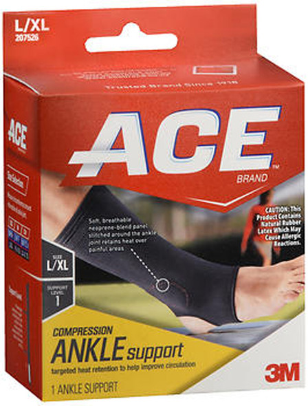 Ace Compression Ankle Support L/XL Level 1 - 1 each