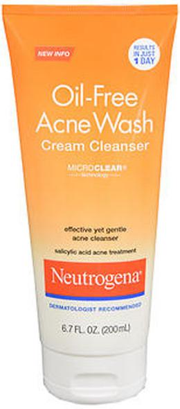 Neutrogena Oil-Free Acne Wash Cream Cleanser -  6.7 oz