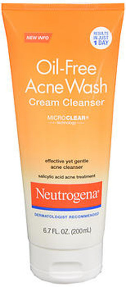 Neutrogena Oil-Free Acne Wash Cream Cleanser -  6.7 oz