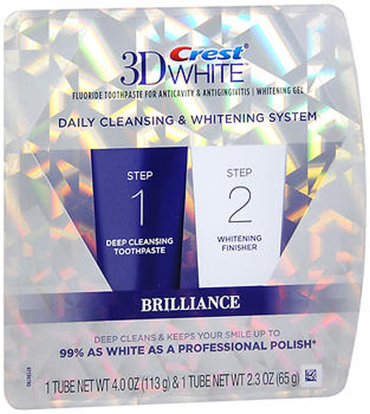 Crest 3D White Daily Cleansing & Whitening System - 6.3 oz