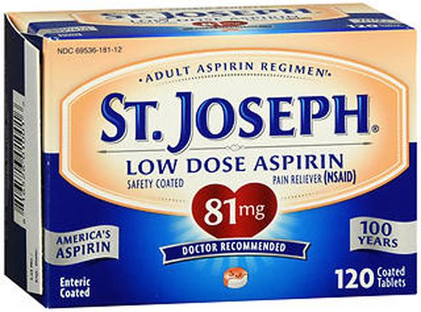 St. Joseph Low Dose Aspirin 81 mg Micro Tablets - 120 ct