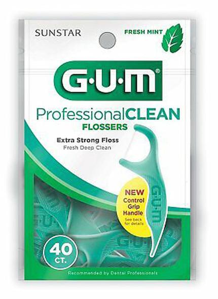 GUM Professional Clean Flossers Mint - 40 ct