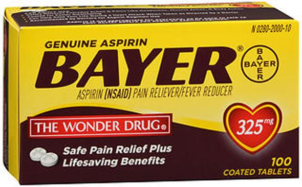 Bayer Aspirin 325 mg Coated Tablets - 100 ct