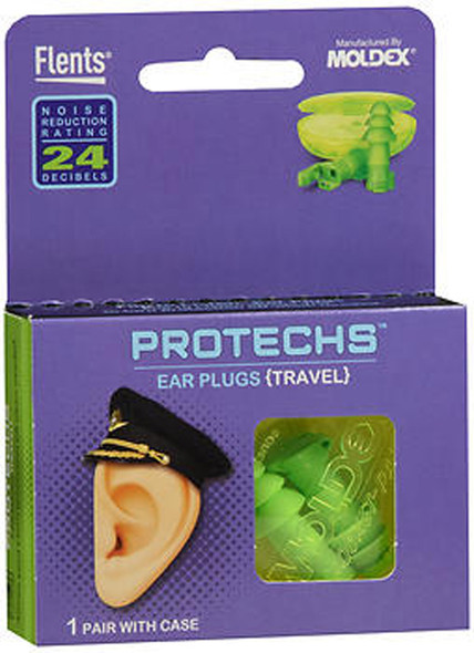 Flents Protechs Ear Plugs Travel - 1 pair